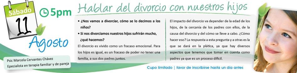 hablar divorcio con hijos