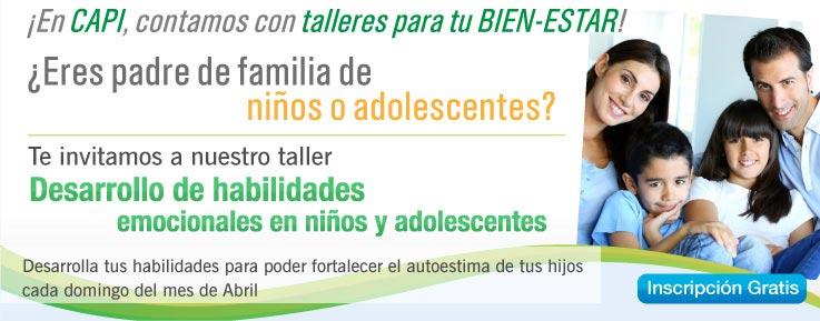 promocion taller psicologico para padres de familia e hijos