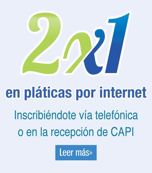 2x1 en pláticas por internet